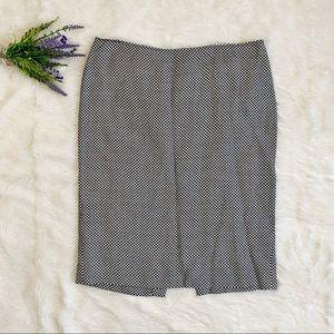 MIU MIU Graphic Geometric Pattern Pencil Skirt